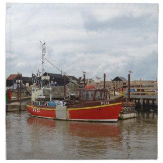 Fishing Boat Aquarius At Southwold Cloth Napkins