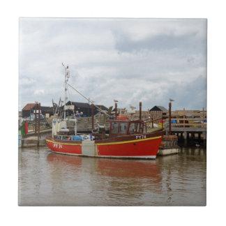 Fishing Boat Aquarius At Southwold Tiles