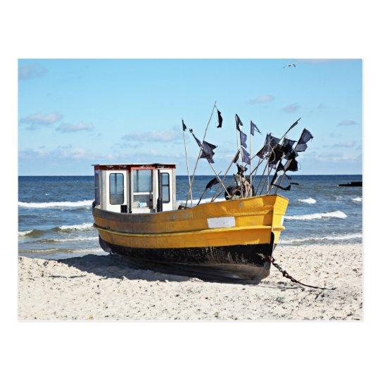 Fishing Boat At A Shore Postcard