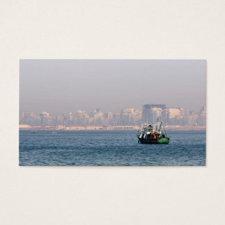 Fishing boat business card