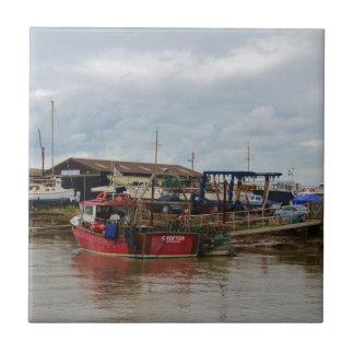 Fishing Boat Crofter Ceramic Tile
