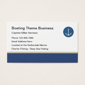 Fishing Boat Design Business Card