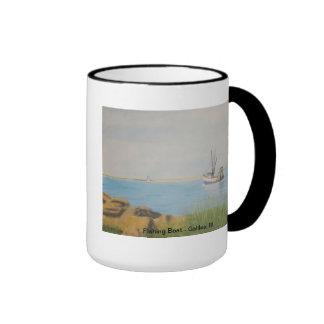 Fishing Boat - Galilee RI Ringer Mug