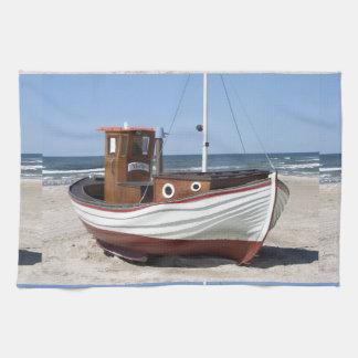 Fishing Boat Image Kitchen Towel