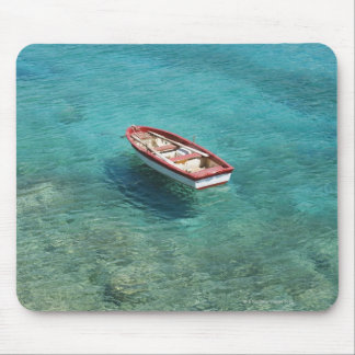 Fishing boat in clear, colorful water, Mani Mouse Pad
