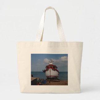 Fishing Boat Morning Haze Tote Bag