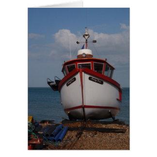 Fishing Boat Morning Haze Cards