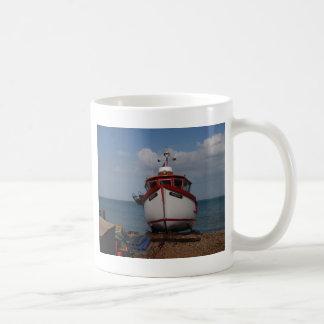 Fishing Boat Morning Haze Classic White Coffee Mug