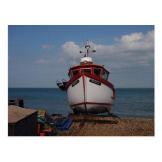Fishing Boat Morning Haze Postcard
