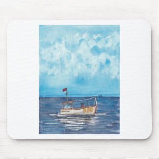 Fishing Boat Mouse Pad
