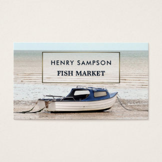 Fishing Boat, Nautical Business Card