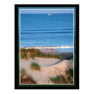 Fishing Boat Near the Horizon Postcard