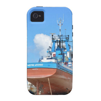 Fishing Boat On The Hard Vibe iPhone 4 Cases