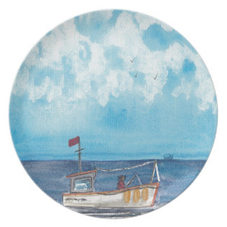 Fishing Boat Plate