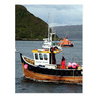 Fishing boat, Portree, Isle of Skye 2 Postcard