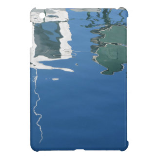 Fishing boat reflects in the water iPad mini case
