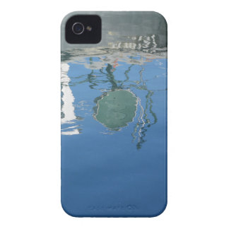 Fishing boat reflects in the water iPhone 4 cover