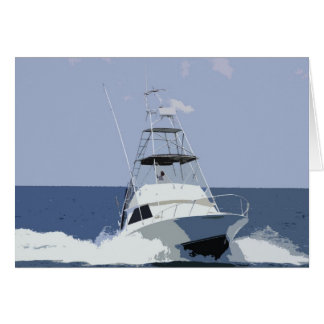 Fishing Boat Rendering Greeting Card