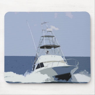 Fishing Boat Rendering Mouse Pad