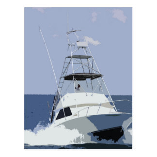 Fishing Boat Rendering Postcard