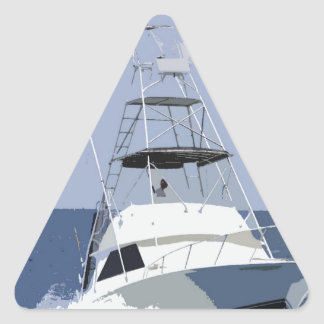 Fishing Boat Rendering Triangle Sticker