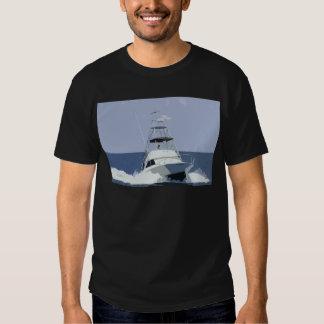 Fishing Boat Rendering Tshirts