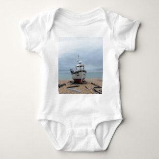 Fishing Boat Sapphire Baby Bodysuit