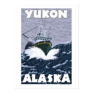 Fishing Boat Scene - Yukon, Alaska Postcard