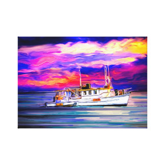 Fishing Boat, Seascape Wall Art, Ocean Art Canvas Print