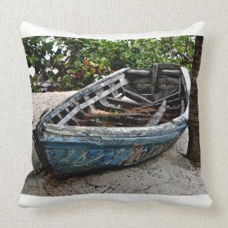 Fishing Boat - Throw Pillow - Caribbean Canvas Art