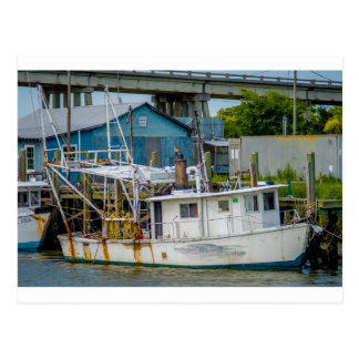 fishing boat tybee island georgia goat channel postcard