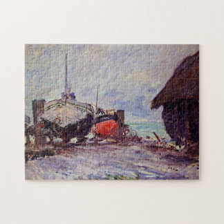 Fishing Boats at Étretat Monet Fine Art Jigsaw Puzzle