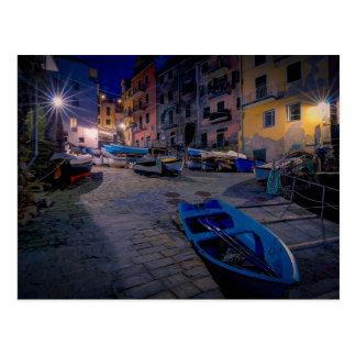 Fishing boats at Riomaggiore, Cinque Terre, Italy Postcard