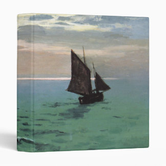 Fishing Boats at Sea Vinyl Binder