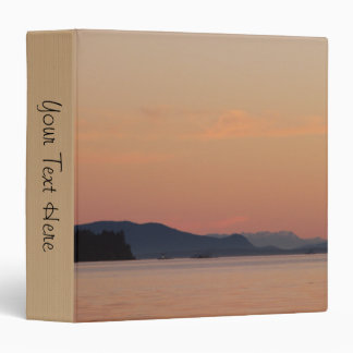 Fishing Boats At Sunset 3 Ring Binder