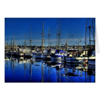 Fishing Boats-Blank Card