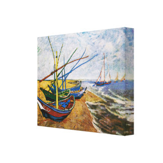 Fishing Boats by Vincent van Gogh Canvas Print