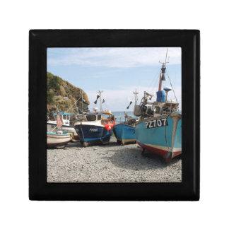 Fishing Boats Cadgwith Cornwall England Keepsake Box