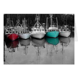 Fishing Boats Card