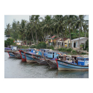 Fishing Boats, Hoi An, Vietnam Poster
