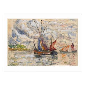Fishing Boats in La Rochelle, c.1919-21 Postcard