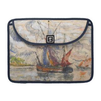 Fishing Boats in La Rochelle, c.1919-21 Sleeve For MacBook Pro