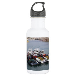 Fishing Boats In Valletta 532 Ml Water Bottle