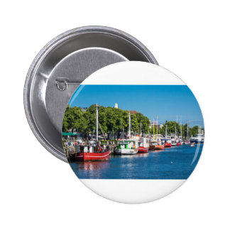 Fishing boats in Warnemuende (Germany) 2 Inch Round Button