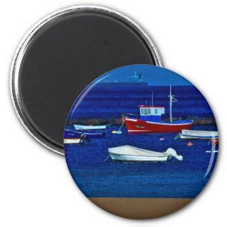 Fishing boats magnet