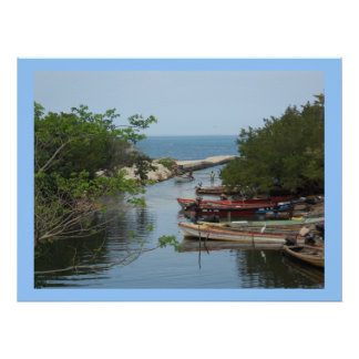 Fishing Boats Negril River Jamaica Canvas Print
