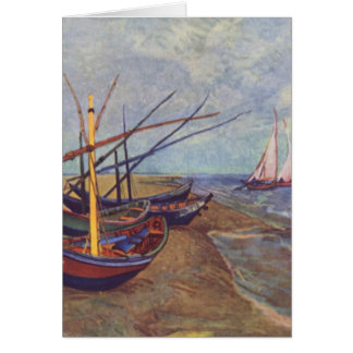 Fishing Boats on the Beach at Saintes-Maries Card