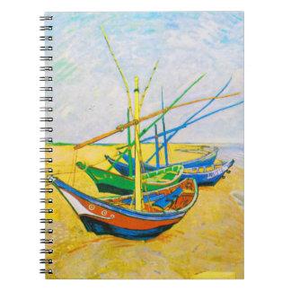 Fishing Boats on the Beach at Saintes-Maries Notebook