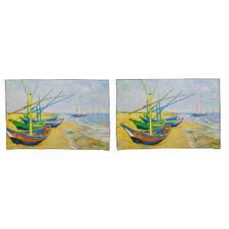 Fishing Boats on the Beach at Saintes-Maries Pillowcase