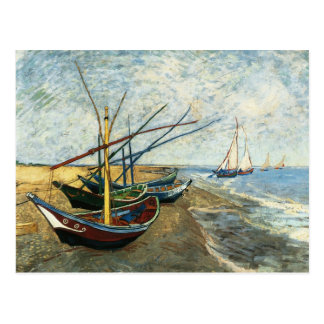 Fishing Boats on the Beach at Saints-Maries Postcard
